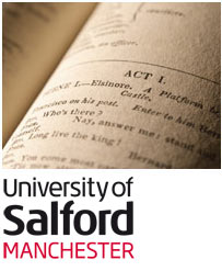 Book and University of Salford Logo